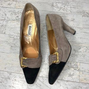 Bally Two tone suede pumps Shoes Size 10.5